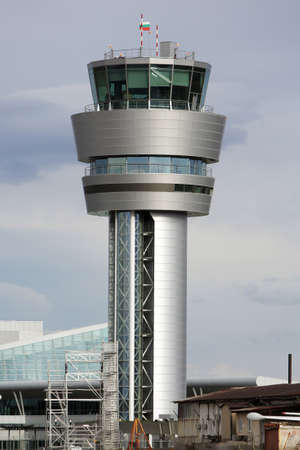airport security: The aircontrol communication tower at Sofias airport. Editorial