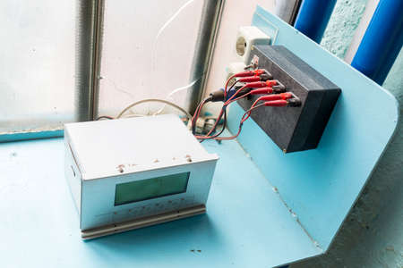 technical university: Measurment instrument in a student laboratory in an European technical university. Facility designed for educational research, tests and exams.