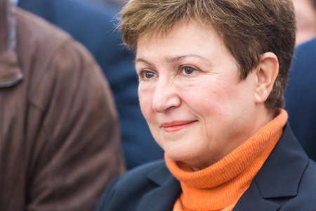 commissioner: Sofia, Bulgaria - October 11, 2015: European Commissioner for Budget and Human Resources Kristalina Georgieva is attending at a consecration of a church near Sofia.