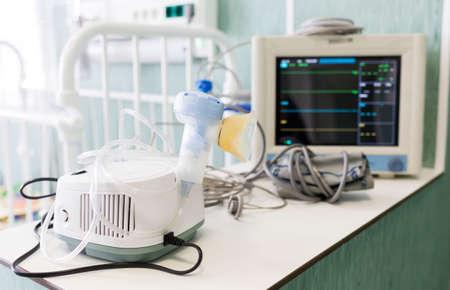 inhaler: Inhaler for children in a childrens clinic.