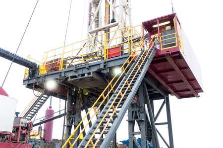 drilling machine: A drilling machine in a natural gas field.
