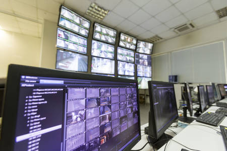 Monitoring surveillance security system for the trains in Sofia, Bulgaria.