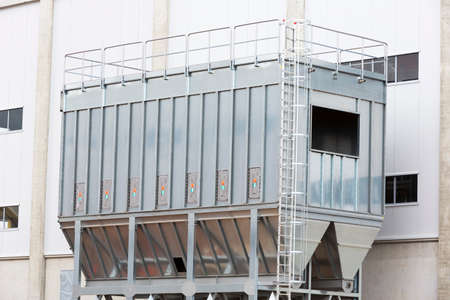 biodegradable: Sofias second waste plant (organic waste plant, waste to energy plant, composting, incineration, landfill, recycling, windrow composting) from the outside.