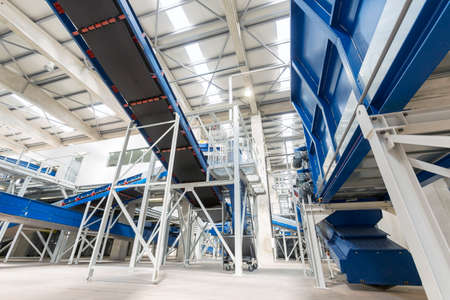 production facility: Inside of a waste management facility. Treatment and disposal of waste. Prevention of waste production through in-process modification, reuse and recycling. Convert waste materials into new products.