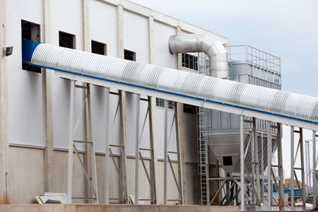organic waste: Sofias second waste plant (organic waste plant, waste to energy plant, composting, incineration, landfill, recycling, windrow composting) from the outside.