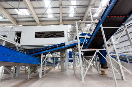 recycling: Sofias second waste plant (organic waste plant, waste to energy plant, composting, incineration, landfill, recycling, windrow composting) from the inside.