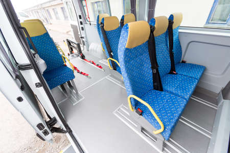 minibus: Minibus for physically disabled people.