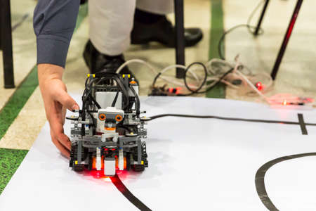 selfmade: Open competition of self-made robots among school students. A robot made of Lego blocks. Editorial