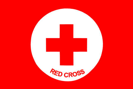 red cross: Sofia, Bulgaria - April 20, 2016: Red Cross icon with titles in English. Editorial