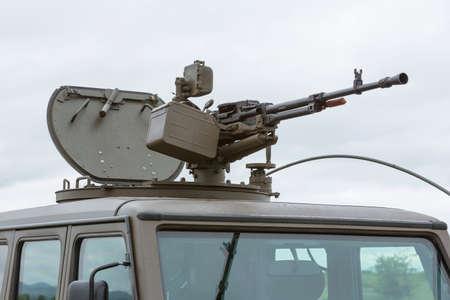 americal: Military vehicle with heavy machine gun. Growler - an internally transportable light strike vehicle. Light utility, light strike and fast attack vehicle.