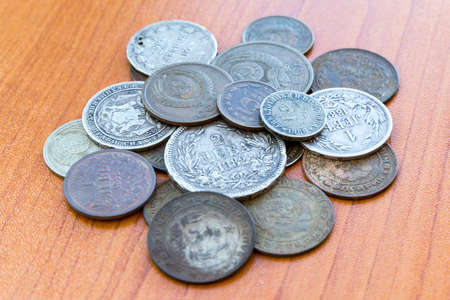 kopek: Silver coins, USSR coins. Old expired money.