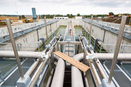 environmental issues: Wastewater treatment plant pipes. Water pumping station. Wastewater treatment is a process used to convert dirty wastewater into an effluent that can be either returned to the water cycle with minimal environmental issues or reused.