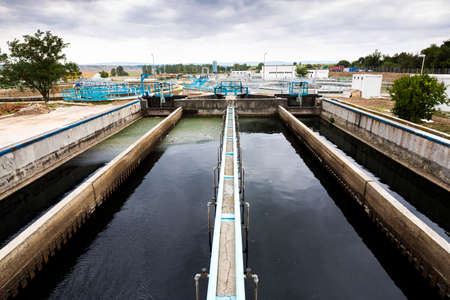 effluent: Sludge Recirculation Clarifier Solid Contact Sedimentation Tank. Wastewater treatment plant. Wastewater treatment is a process used to convert dirty wastewater into an effluent that can be either returned to the water cycle with minimal environmental issu