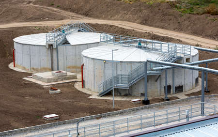 clarifier: Wastewater treatment plant. Wastewater treatment is a process used to convert dirty wastewater into an effluent that can be either returned to the water cycle with minimal environmental issues or reused.