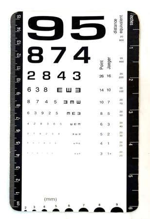 prueba de vision: tarjeta de examen para su uso prueba de la visión del ojo por médicos en clínicas.