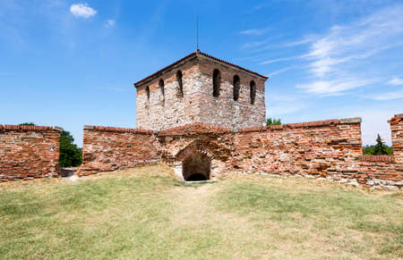 Baba Vida medieval fortress in Vidin, Bulgaria. It consists of two concentric curtain walls and about nine towers of which three are preserved to their full medieval height.