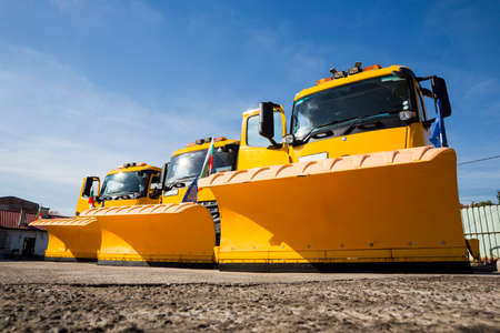 A snowplow (also snow plow, snowplough or snow plough) is a device intended for mounting on a vehicle, used for removing snow and ice from outdoor surfaces, typically those serving transportation purposes.