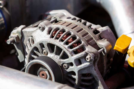 An alternator is an electrical generator that converts mechanical energy to electrical energy in the form of alternating current.