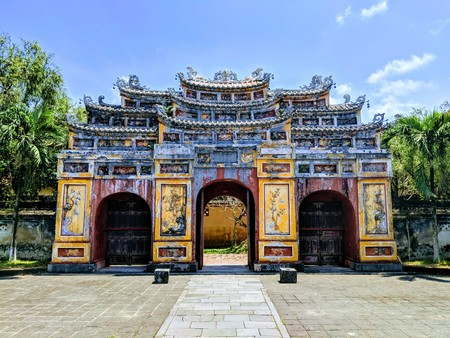 Astonishing Gate at Old Citadel of Hue in Vietnam