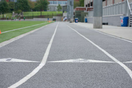 outdoor track lanes