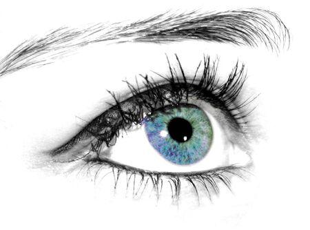 maquillage: oeil bleu innocent