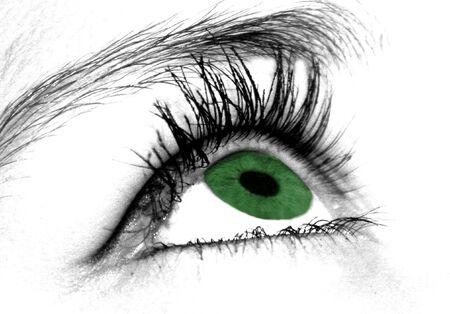 maquillage: oeil vert