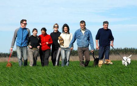 friends in grass Stock Photo - 813633