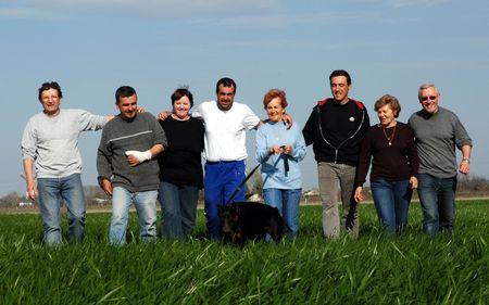 friends in field photo