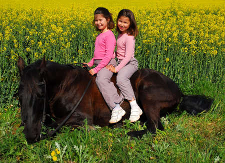 twins sister and stallion photo