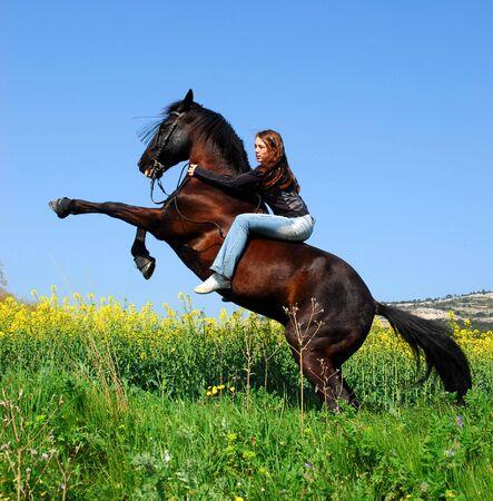rearing: rearing horse