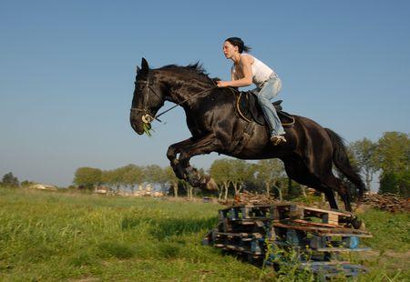 cavallo che salta: Croce  Archivio Fotografico