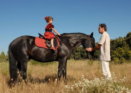 school of horseback riding Stock Photo - 1318716