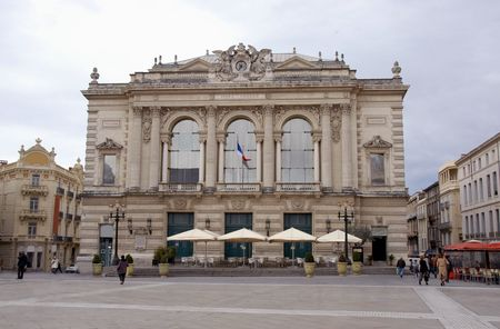 roussillon: Opera, Montpellier, place of Comedie, Languedoc Roussillon