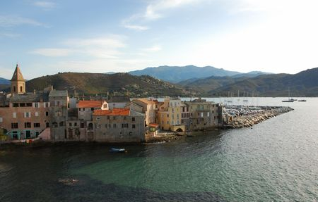 st: St. Florent, little village on Corsica,France.