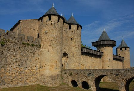 roussillon: Carcassonne, medieval city in the Languedoc Roussillon, France