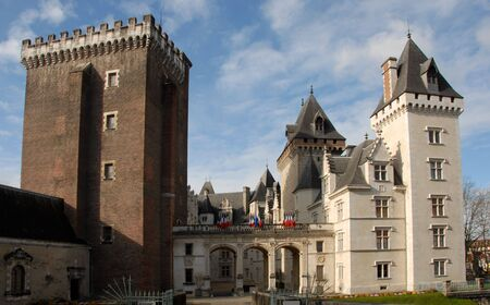 castel: Castel of Pau, In Pyr�n�es Orientales, France.