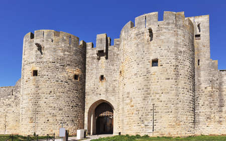 ramparts: door of Ramparts of the strengthened city of Aigues-Mortes - France