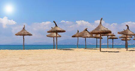 palma: Beach of Palma de Majorque, island near Spain in Europe