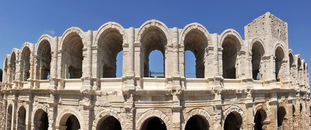 arles: The Arles Amphitheatre is a Roman amphitheatre in the southern French town of Arles