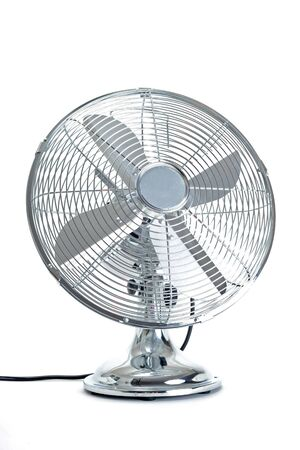 fan: electric fan in front of white background
