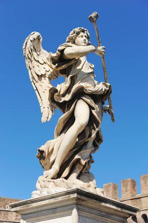 bernini: Bernini angel on the castel of Sant Angelo in Rome Stock Photo