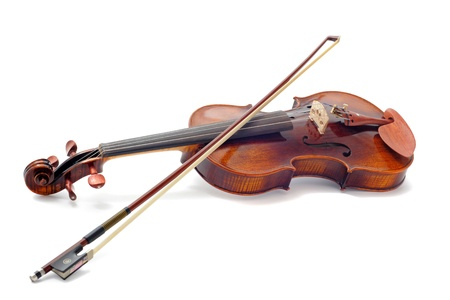 violin player: beautiful violin isolated on a white background