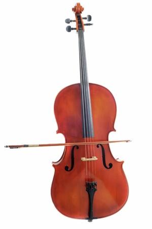 violoncello: beautiful violoncello isolated on a white background