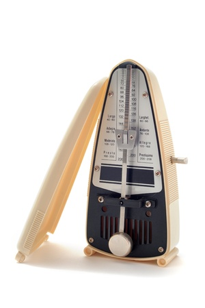ivory metronome isolated on a white background Stock Photo - 11540131