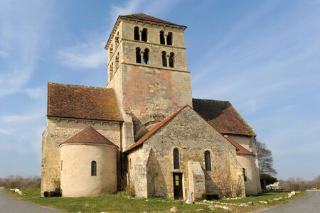 laurent: church Saint Laurent de Beard in the Nievre, France Stock Photo