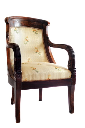 antique chair in front of white background Stock Photo - 13131866