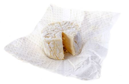boursault cheese in front of white background photo