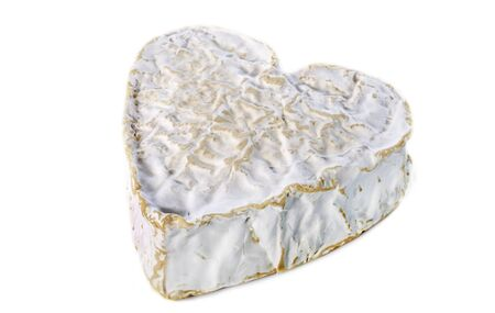Whole Heartshaped Neufchatel cheese on white background Stock Photo - 17333364