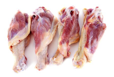 duck drumsticks in front of white background Stock Photo - 17333373