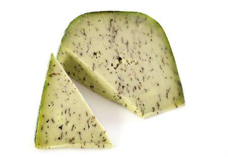 Basiron Pesto Cheese Isolated on White Background Stock Photo - 17841207